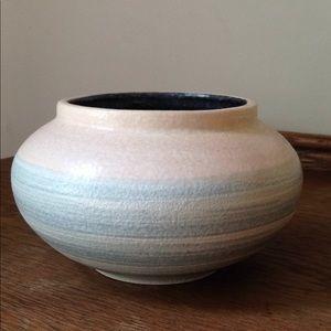Mexican Pottery Bowl Planter Aqua